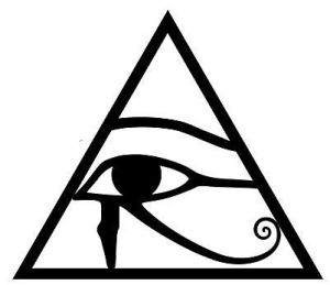 Egyptian triangle eye