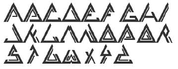 Remi Mortimer triangle font