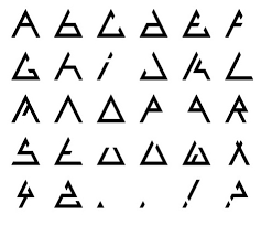 Triangle - Fonts and Penrose