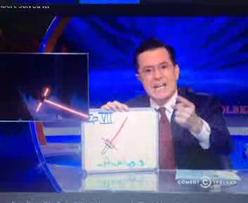 Crossguard Lightsaber explained by Steven Colbert thumbnail