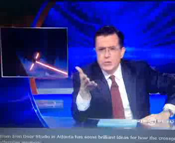 Crossguard Lightsaber explained by Steven Colbert thumbnail