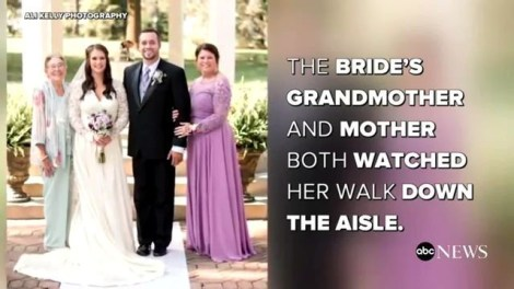 Bride wears 3rd generation wedding dress for a lucky marriage like her grandmother, mother thumbnail