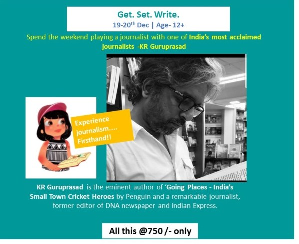 Be a Journalist Workshop for young writer Bookosmia