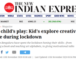 Kids and creativity! Bookosmia featured in The New Indian Express
