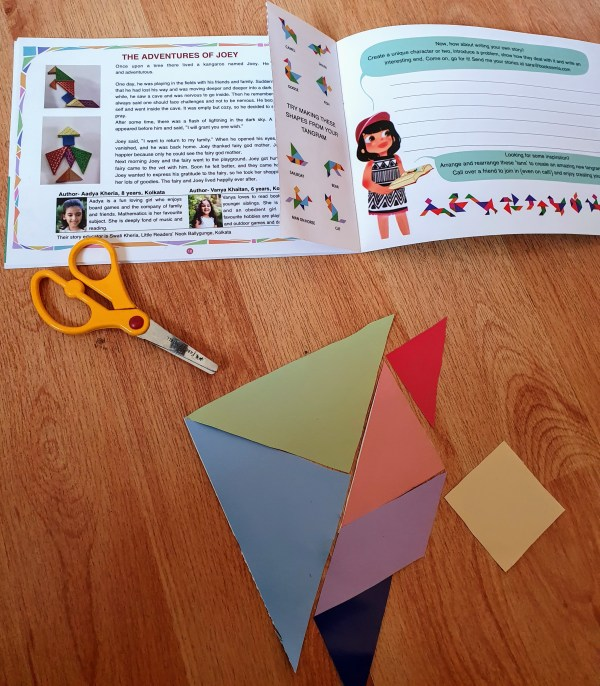 Tangram Shapes and Stories book for kids Bookosmia