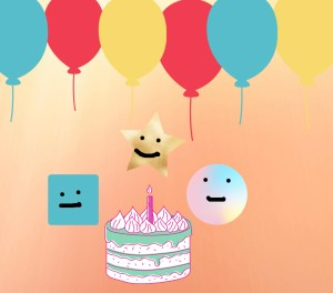 A Birthday Party With Shapes