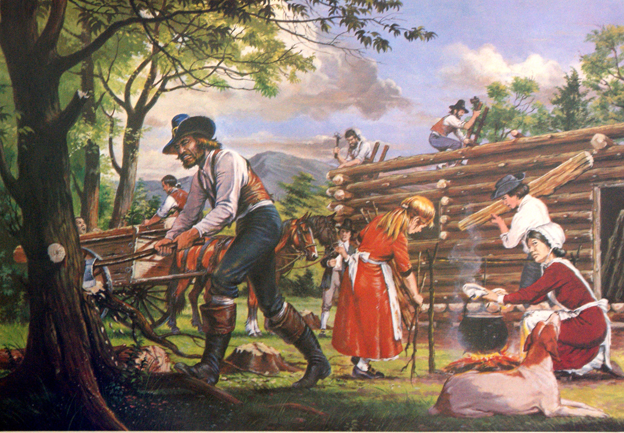 Early Settlers In North America Original Macmillan Poster Print By Macmillan Education