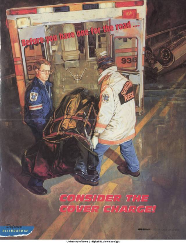 Before you have one for the road-- consider the cover charge! 1999