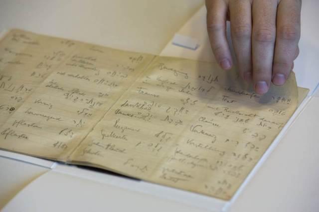israel national libraryFranz Kafka's Hebrew vocabulary notebook