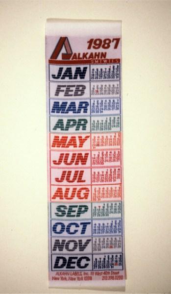 Calendars Alkahn Labels 1987