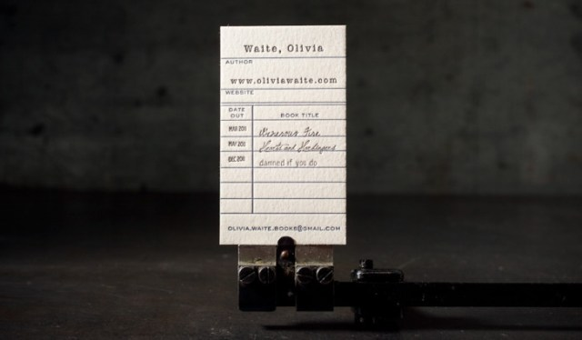 Bookish Business Cards 4