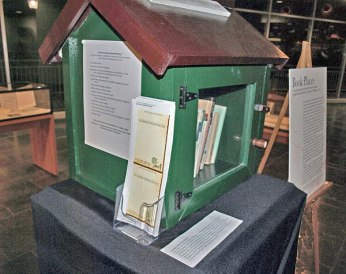 The Little Free Library in the Book Places exhibit, January 2014.