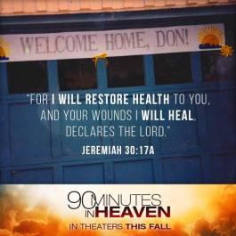 Heaven I will restore Health Scripture
