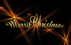 Christmas Words Gold Free Use