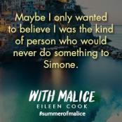 With Malice, We Were Liars, YA Book, Eileen Cook, Summer, Beach Read ___(1)