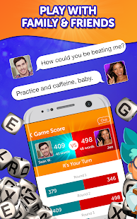 A screencap of an ad for the Boggle with Friends game showing that you can play with friends