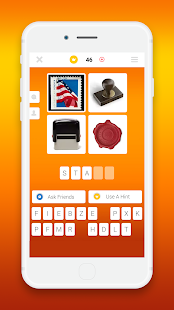 A screencap of an ad for the word game Guess the Word showing the board