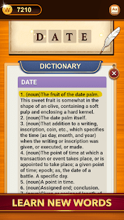A screencap of an ad for the Word Connect word game showing the in-game dictionary