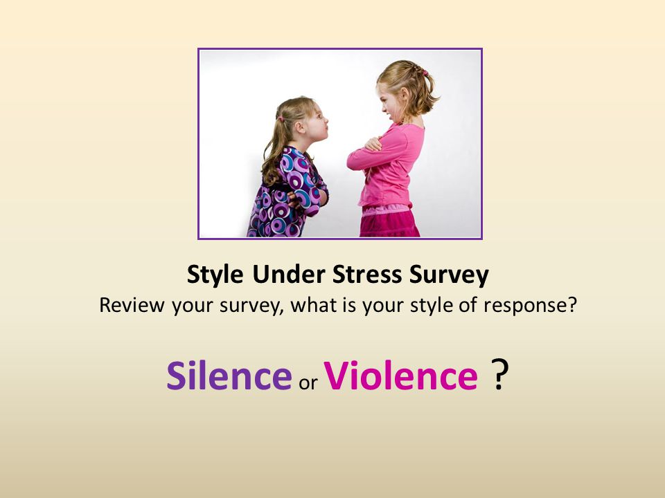 Your Style Under Stress