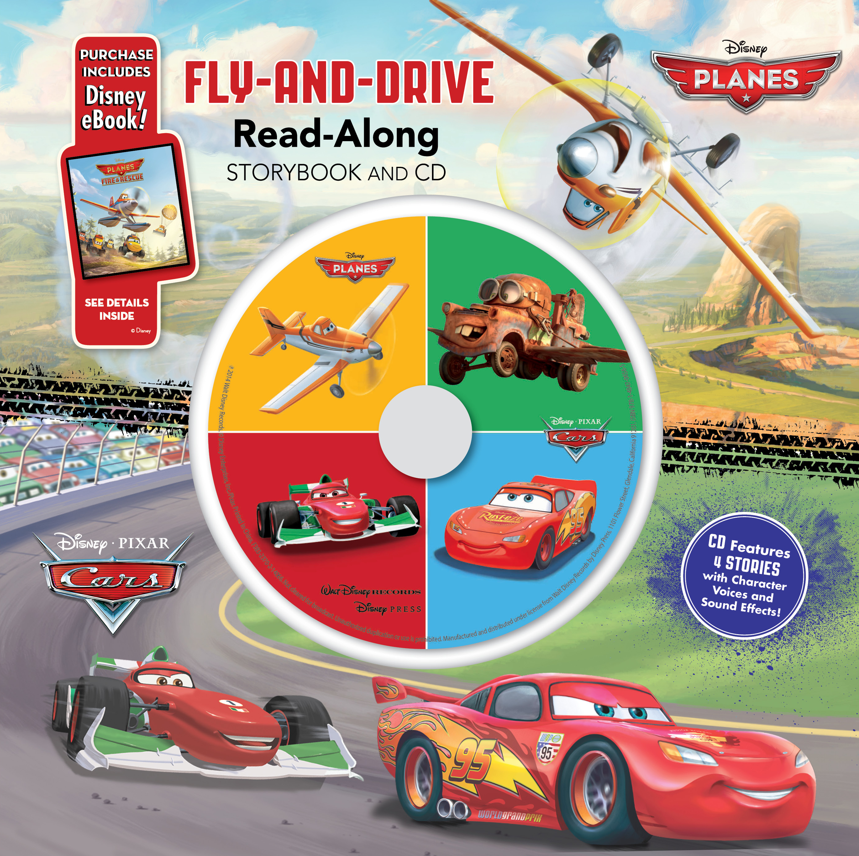 Cars / Planes: Fly-and-Drive Read-Along Storybook and CD | Disney