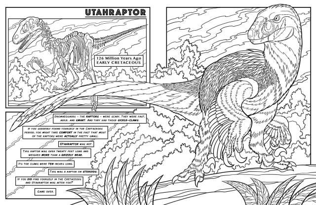 Utahraptor – Dinosaurs Live! – Dinosaur Coloring Book  Farcountry