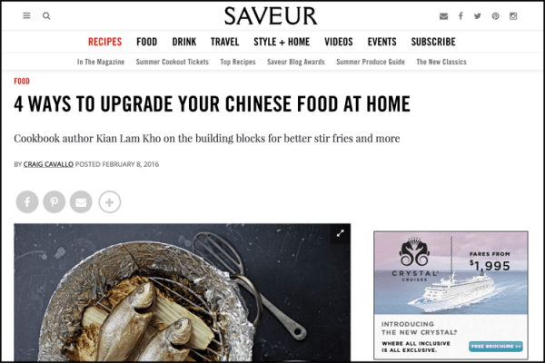 Saveur: Upgrade Your Chinese Food at Home