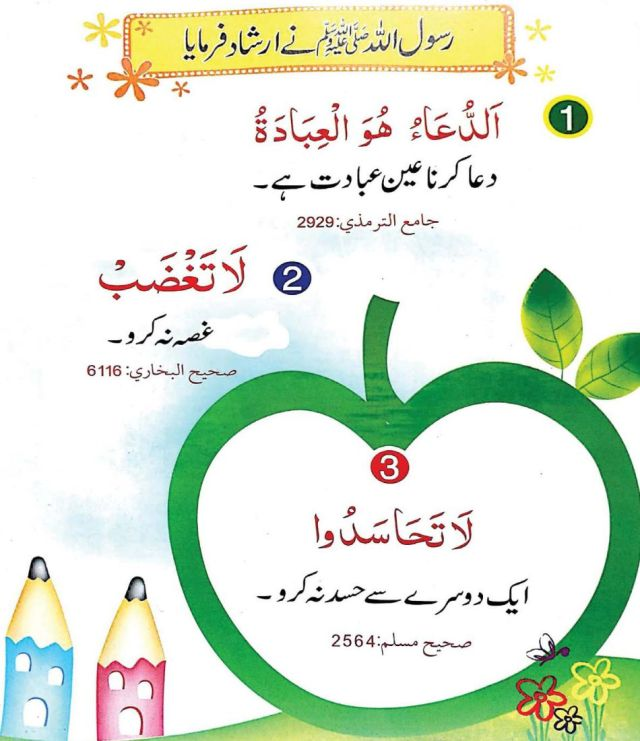 60 Ahadees Book Sample Page