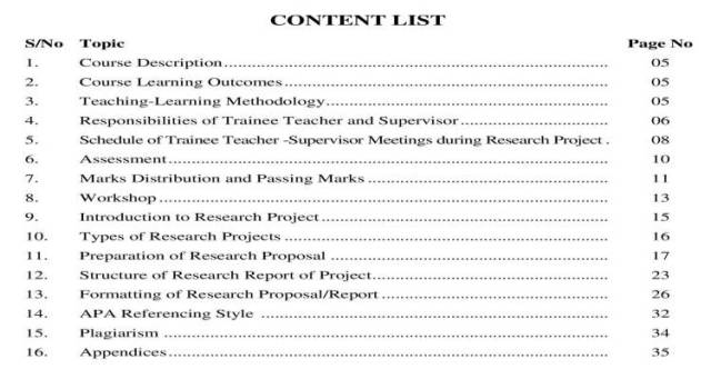 AIOU-B.Ed-Code-8613-Book-contents-page