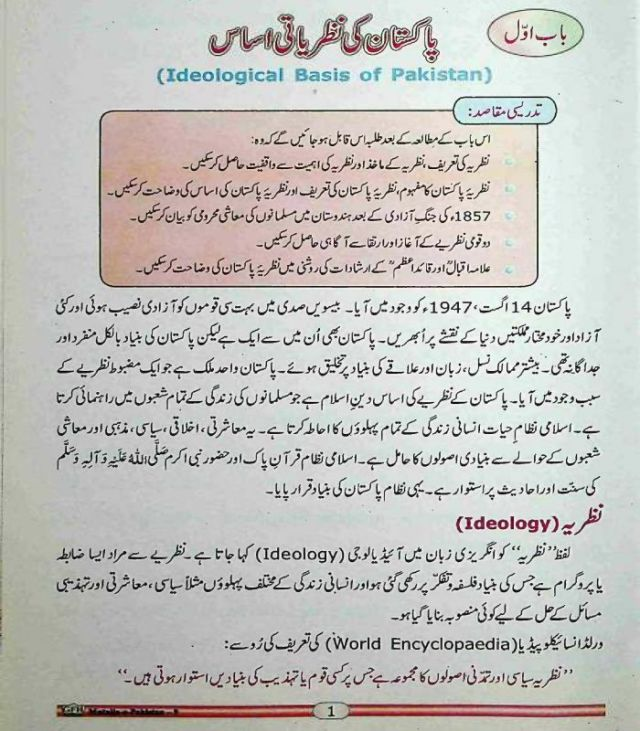 9th-Pakistan-Studies-textbook-Urdu-medium-contents-page