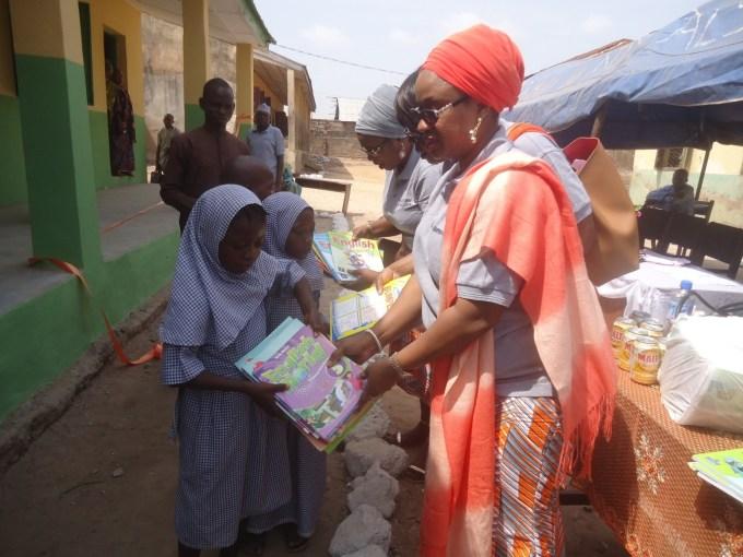 Book donation at the Adeta Primary School, Kwara State, Nigeria 2
