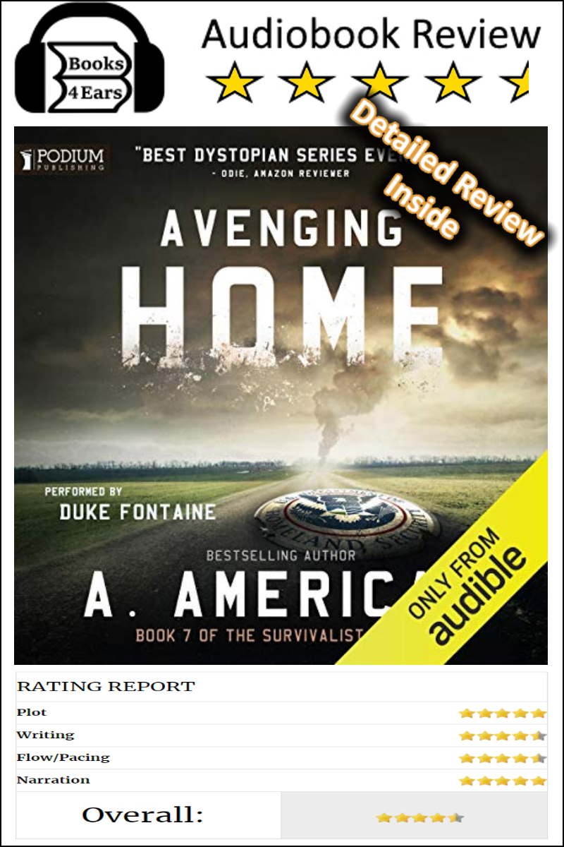 Avenging Home detailed book review and complete character list. The Survivalist Series, Book 7 by A. American. via @Books4Ears #BookReview #BookBlog #Books4Ears via @Books4Ears