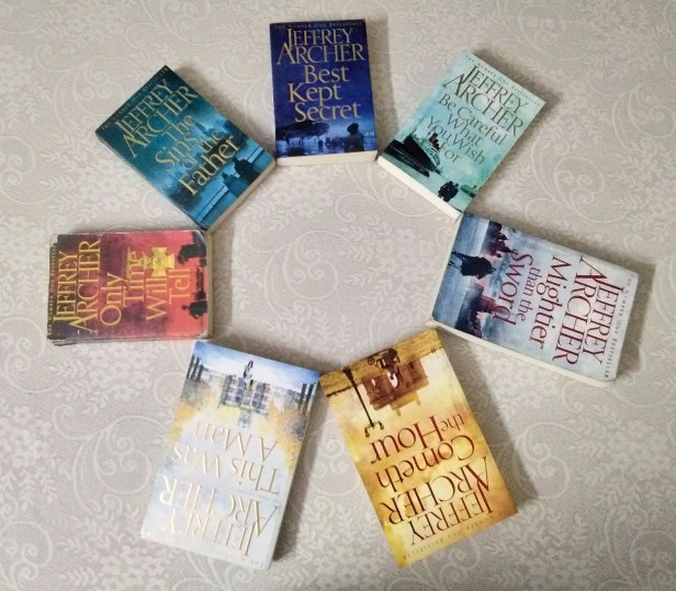 Sukriti's collection of Jeffrey Archer's works