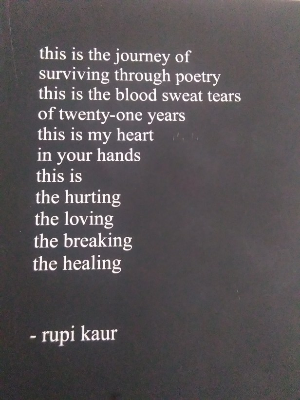 Quote from Rupi Kaur's Milk and Honey