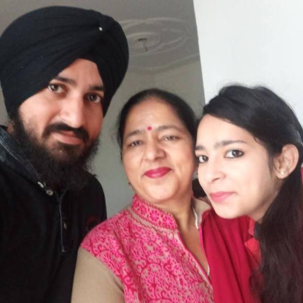 Sahildeep with his family