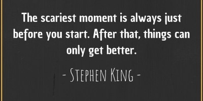 Quote about the scariest moment by Stephen King