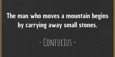 Quote by Confucius about moving a mountain