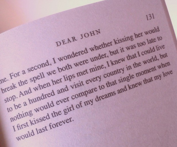 Excerpt from 'Dear John' by Nicholas Sparks