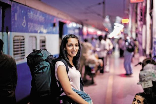 Monisha Rajesh, the author of 'Around India in 80 Trains'