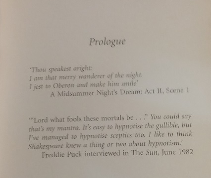 Reference to William Shakespeare's 'A Midsummer Night's Dream' in 'Midsummer Magic' by Julia Williams