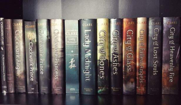 Anagha Aglawe's impressive collection of Cassandra Clare books