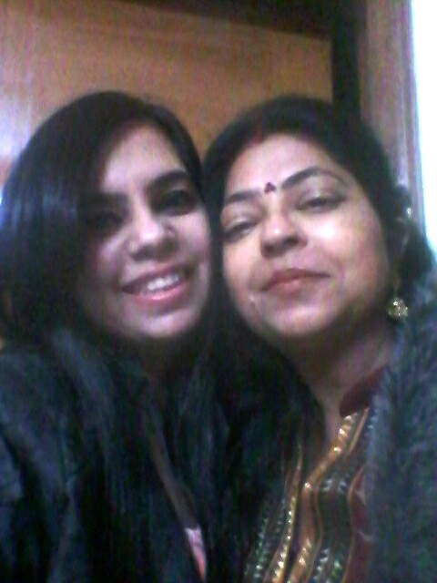 Garima Batra with her mother