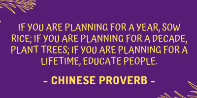Chinese proverb about educating people