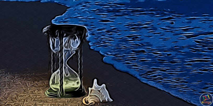 Hourglass is a palindrome poem about the transience of life