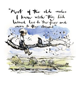 Quote about moles and bravery from The Boy, The Mole, The Fox and The Horse