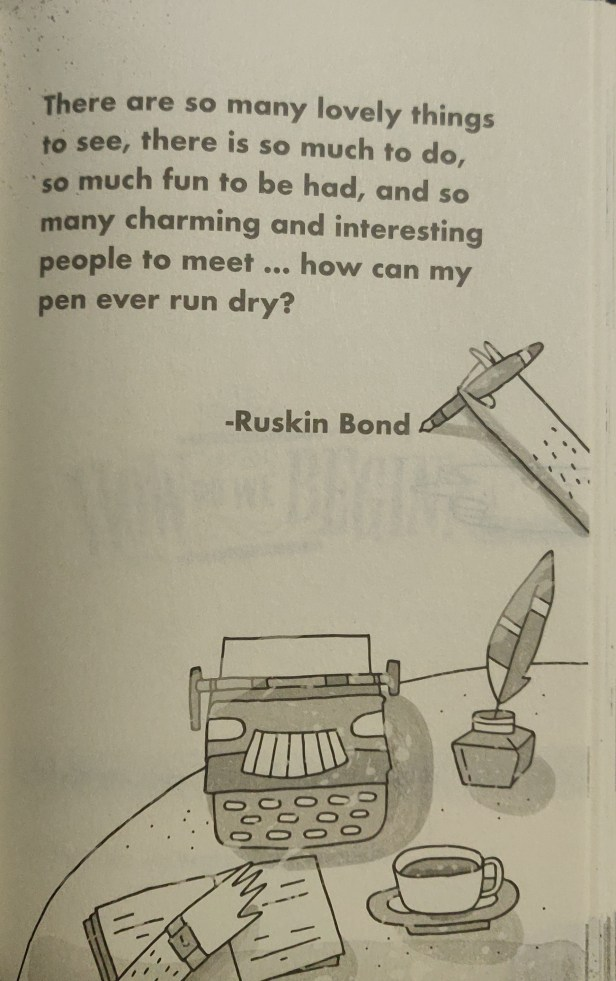 Quotes from How to be a Writer by Ruskin Bond