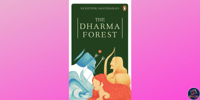 The Dharma Forest is a philosophical retelling of the Mahabharata by Keerthik Sasidharan from the standpoint of Bhishma, Draupadi, and Arjuna