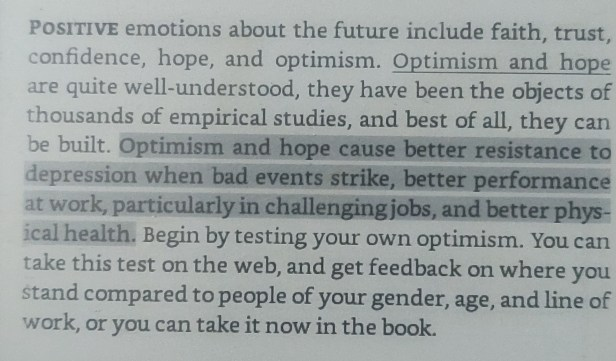 An excerpt from Martin Seligman's Authentic Happiness about positive emotions