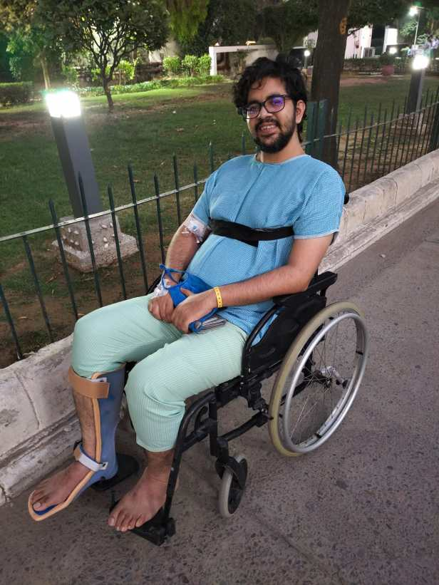 Kushank Kumar made the most of his time on the wheelchair
