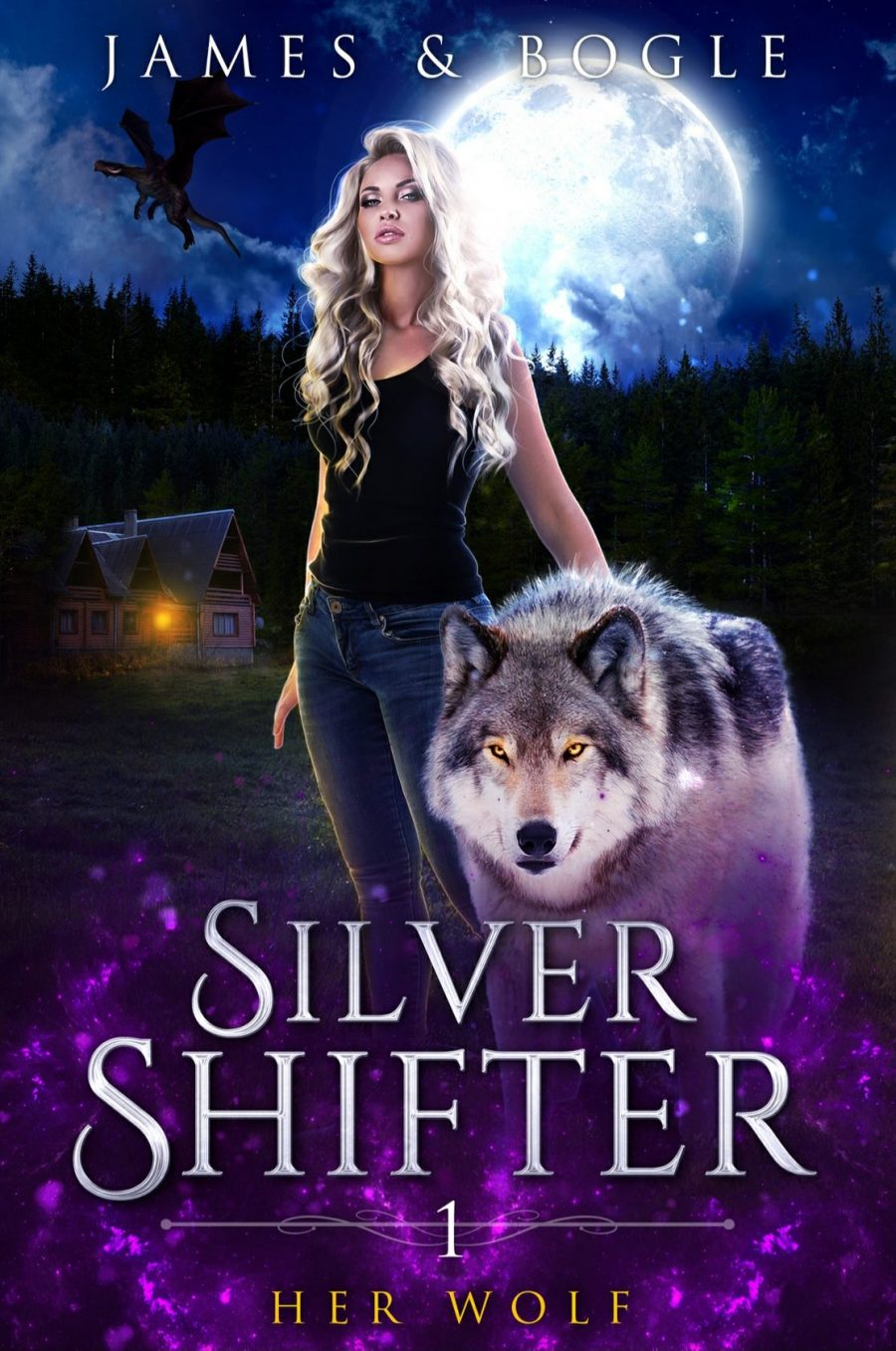 Her Wolf *Silver Shifter - Book 1* by Alexa James and Katherine Bogle - A Book Review #BookReview #WhyChoose #RH #UrbanFantasy #Shifters