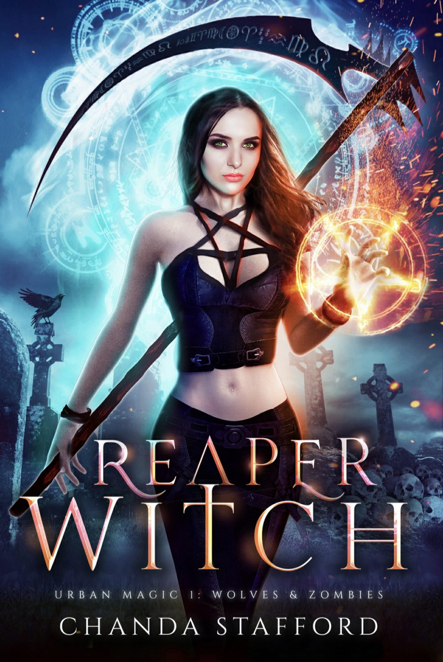 Reaper Witch: Wolves & Zombies by Chandra Stafford - A Book Review #BookReview #UrbanFantasy #Werewolves #Zombies #Magic #Demons #4Star #KindleUnlimited #KU #Action